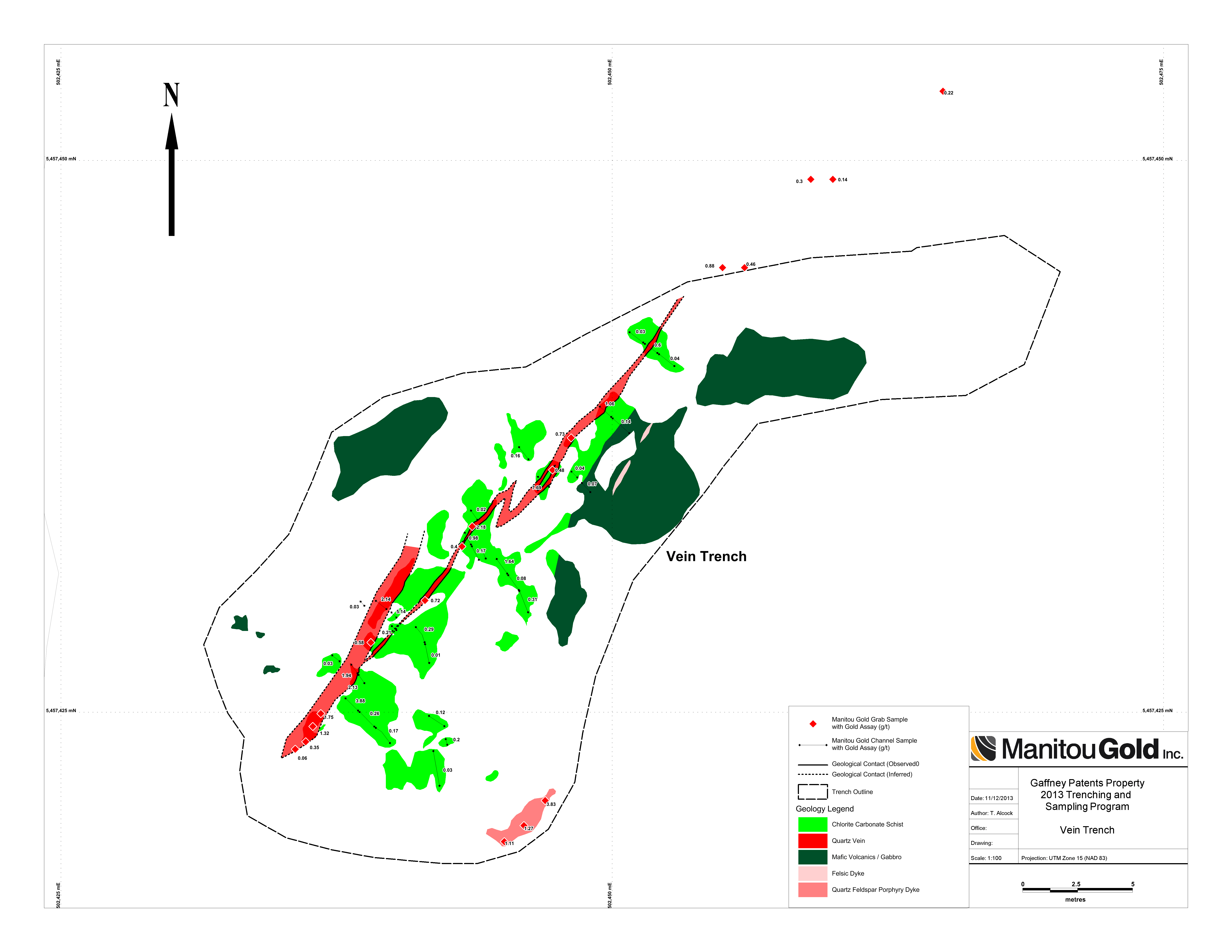 Maps Manitou Gold Inc